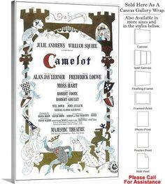 "Camelot 1960 Famous Broadway Musical Production Canvas Wrap 18"" x 30"""