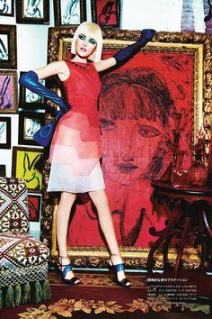 Vlada Roslyakova by Ellen Von Unwerth for Numero Tokyo #75, April 2014