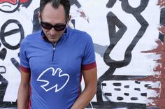 Isadore Apparel - Isadore Limoges Blue Peace Cycling Jersey #cyclingmemories #roadisthewayoflife