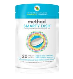I love method dish tabs - they never spill.  I keep them in a glass jar on the country above the dishwasher - I never have to dig under the cabinet to find them.