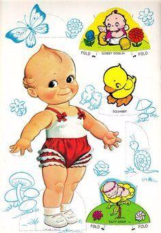 Бумажные куклы Кьюпи / Бумажные куклы с одеждой для вырезания, наборы / Бэйбики. Куклы фото. Одежда для кукол
