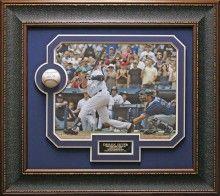 Derek Jeter Signed Baseball 3000th Hit Collage Framed