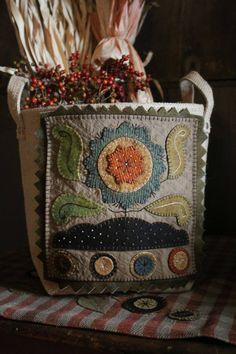 Rebekah L. Smith's wool appliqué.