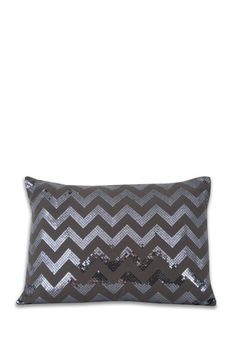 Pewter Sequin Pillow by Thro Home