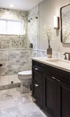 90 bathroom tile designs, trends & ideas for 2019 31 page 6 Best Bathroom Tiles, Bathroom Tile Designs, Bathroom Design Small, Bathroom Fixtures, Master Bathroom, Bathroom Ideas, Modern Bathroom, Bathtub Tile, Bathtub Ideas