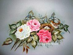 Rosas - PINTURA EM TECIDO-MARICÉLIA MONTANARI SILVA #mariceliapinturas