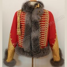 Front view - French Empire colonel-major of the chasseurs à cheval of the… Military Style Jackets, Military Jacket, Military Uniforms, Military Costumes, Colonel, Military Looks, Fashion Corner, Charming Man, Theatre Costumes