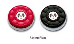 Custom Table Shuffleboard Puck Weights made with racing flags