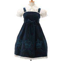 http://www.wunderwelt.jp/products/detail6612.html ☆ ·.. · ° ☆ ·.. · ° ☆ ·.. · ° ☆ ·.. · ° ☆ ·.. · ° ☆ Velveteen crown jumper skirt metamorphose ☆ ·.. · ° ☆ How to order ↓ ☆ ·.. · ° ☆ http://www.wunderwelt.jp/user_data/shoppingguide-eng ☆ ·.. · ☆ Japanese Vintage Lolita clothing shop Wunderwelt ☆ ·.. · ☆