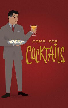 Chic and Charming: How To Throw a Mad Men Cocktail Party – Cocktail 2020 Mad Men Party, Man Party, Cocktail Party Themes, Cocktails For Parties, 60s Party Themes, Cocktail Ideas, Rat Pack Party, 1960s Party, Retro Party