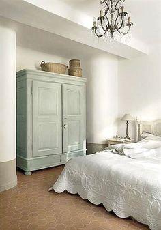 Master bedroom - mediterranean - bedroom - other metro - Décoration et provence Restful Bedrooms, Decor, Furniture, Cottage Chic Bedroom, Beautiful Bedrooms, Home, Cheap Home Decor, Mediterranean Bedroom, Home Decor