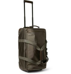 Mulberry Henry Leather-Trimmed Nylon Wheeled Suitcase | MR PORTER