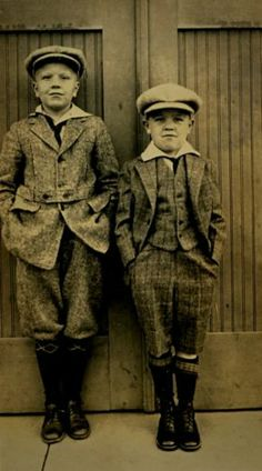Lot of 2 Vintage Photographs of Boys with Hats from The Early 1900s | eBay