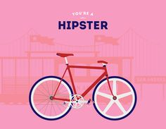 Are you a hipster? by Cyclemon l #bikes #illustration