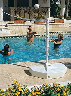 Pool volleyball is a great way to exercise and spend time with your family this summer!