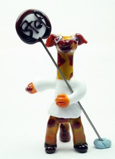 Lampwork glass collectible sculpture bead Lollipop by IzzyBeads, £22.00