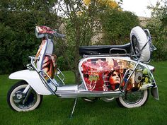 Ready Steady Go scooter featuring Cathy McGowan Retro Scooter, Scooter Custom, Lambretta Scooter, Scooter Girl, Vespa Scooters, Sidecar, Pictures Of Scooters, Motor Scooters, Chopper