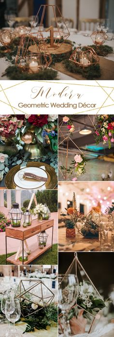 Modern Geometric Wedding Decor Ideas