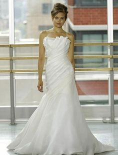 Rivini - Strapless A-Line Gown in Silk Gazar