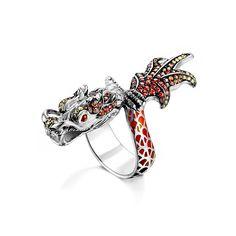 Fink's Jewelers - John Hardy Naga Autumn Enamel Wrap Dragon Ring, $1,895.00 (http://finksjewelers.com/john-hardy-naga-autumn-enamel-wrap-dragon-ring/)