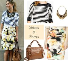 Look for less: stripes + florals