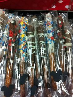 Chocolate and Candy Coated Pretzel Rods