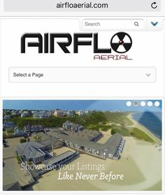 Here is a mobile view of AirfloAerial as you can tell we made this site a long time ago. The mobile menu is weak and we would never put that search box at top like that again. It's not bad just old and needs updating. #oldschool #pleasecleanme #stepupyourgame http://ift.tt/2iADSKZ