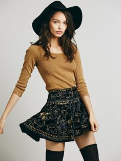 Free People Little Layla Velvet Mini at Free People Clothing Boutique