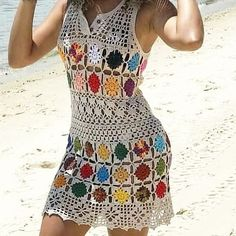 Daily Fashion – Daily fashion all trends dresses shoes pants jeans Crochet Beach Dress, Bikinis Crochet, Crochet Summer Dresses, Crochet Skirts, Crochet Clothes, Chunky Crochet, Crochet Shawl, Crochet Lace, Crochet Cardigan