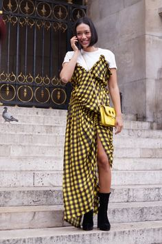 Paris Fashion Week Street Style leaving Balmain SS18