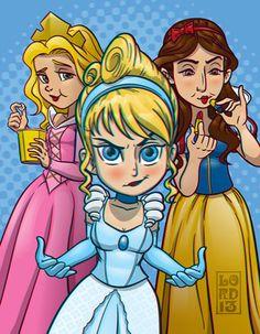Big Bang Theory- Princess Posse 3D by lordmesa.deviantart.com on @deviantART