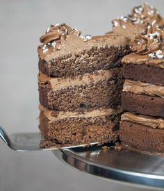 Brown Sugar Chocolate Cake with Nutella Buttercream