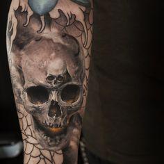 Skull in progress.