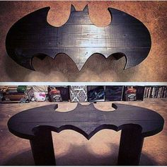 I love this but imagine it with kids in the house that's a disaster waiting - Batman Decoration - Ideas of Batman Decoration - I love this but imagine it with kids in the house that's a disaster waiting to happen. Batman Love, Im Batman, Batman Stuff, Batman Man Cave, Wood Projects, Woodworking Projects, Projects To Try, Batman Room Decor, Batman Bedroom