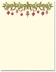 vintage christmas holly stationery letterhead christmas.html
