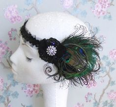 Peacock Feather Flapper Headband UK by talulahblue on Etsy, $38.00