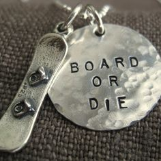 "Not so sure on the ""board or die"" writing but I love the aspect of it...snowboarding!"