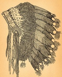 Headress print :} for feather lovers :}