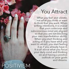 When you feel really excited about something, being hopeful, wishful and ecstatic about receiving and having this outcome, you start… Spiritual Enlightenment, Spiritual Wisdom, Spiritual Awakening, Positive Thoughts, Positive Quotes, Reiki, Positive Energie, Law Of Attraction Affirmations, Spiritual Awareness
