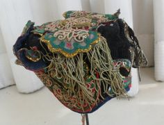 Chinese Dong people's old hand embroidery Child hat