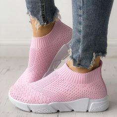 Shoes Women Sneakers Chaussure Femme Breathable Socks Slip On Basket Flats Footwear Tenis Feminino Casual Shoes woman Moda Sneakers, Sneakers Mode, Casual Sneakers, White Sneakers, Sneakers Fashion, Casual Shoes, Fashion Shoes, Snow Sneakers, Women's Fashion