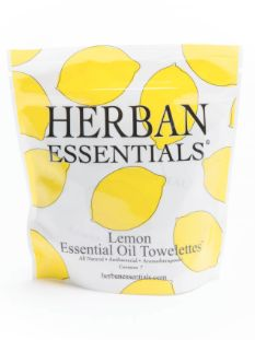 Lemon Towelettes// Herban Essentials