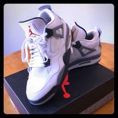 size 40 0b870 89bd8 Jordan Shoes   Original Air Jordan 4 Retro   Color  Gray White   Size