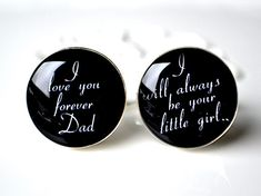 Items similar to Father of the Bride I love you forever Dad cufflinks / stainless steel cuff links mens accessories on Etsy Gifts For Wedding Party, On Your Wedding Day, Dream Wedding, Party Gifts, I Love You Forever, Father Of The Bride, Thank You Gifts, Here Comes The Bride, Bride Gifts