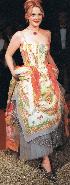 "Drew Barrymore's ""50 Scarves Dress"" from the Ever After premiere."