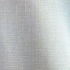 FABRIC15 FASHION SOLID Linen Texture Cotton Polyester All White 58 x 88 1.9-lb