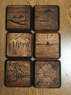 Did some wood burning on coasters for family. Mountains for the parents in Canada oceans for the sister in San Diego. http://ift.tt/2ia7fDW . how to make your own #crafts follow @cutephonecases
