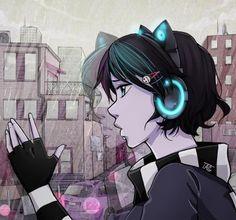 DeviantArt: More Like Zoe Silent Scream - Anna blue by ohfifteen Emo Love, Cute Emo, Gorillaz, Anna Blue, Emo Anime Girl, Blue Drawings, Emo Art, Kawaii, Drawing Base