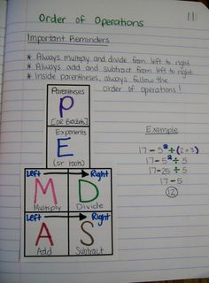 Math = Love: Algebra 1 Unit 1 Interactive Notebook Pages