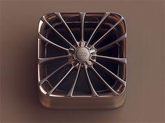 Chrome wheel icon, by Jony Jo Vanny on Dribbble.